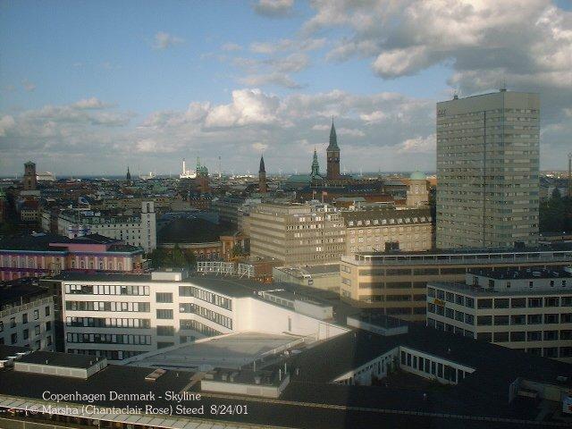 Copenhagen - Kobenhaven Skyline